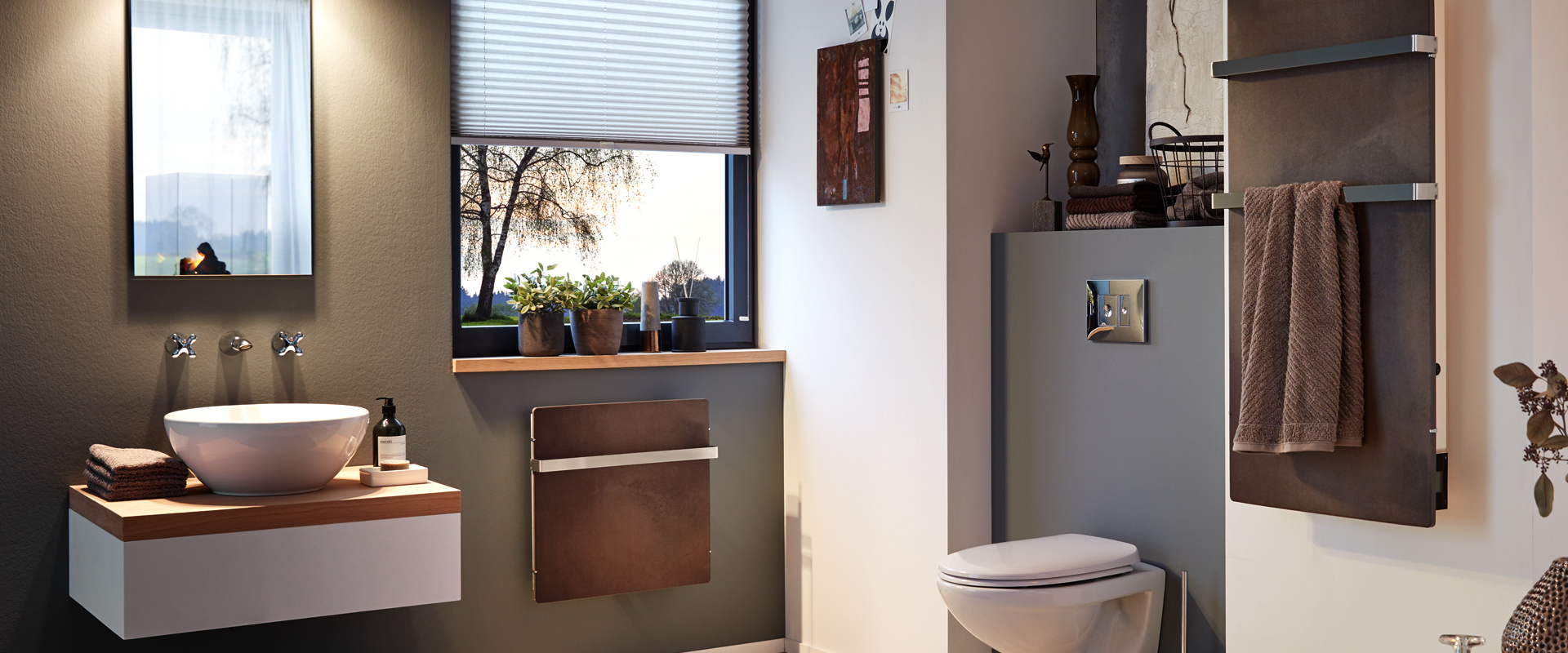 badheizung elektrisch. Black Bedroom Furniture Sets. Home Design Ideas